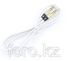 Кабель аудио Cablexpert CCAB-01-35MM-1MW, 3.5 джек (M)/3.5 джек (M), 1м, блистер, белый