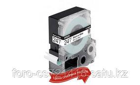 Лента Epson C53S656006 LK-6WBN9 Стандартная лента 24мм, Бел./Черн., 9м