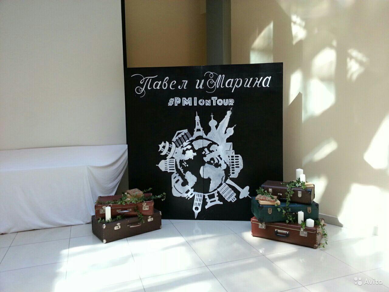 Грифельная меловая доска на свадьбу по индивидуальному заказу