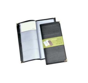Визитница на 160 визиток, 115х250мм, кожзам, черная Shuter