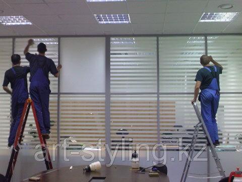 Тонирование и укрепление стекол, перегородок, витражей