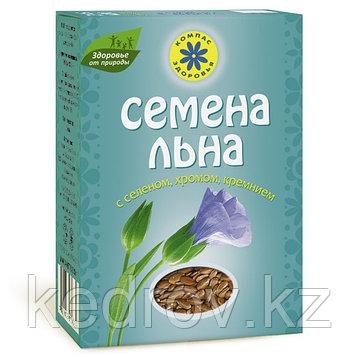 """Семя льна """"Компас Здоровья"""" с селеном, хромом, кремнием, 200г"""