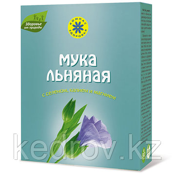 Льняная мука Компас здоровья (с селеном, калием, магнием, 300 г).