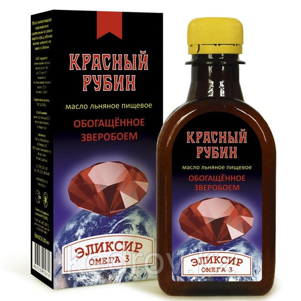 """""""Красный Рубин"""" - масло льняное с экстрактом зверобоя, чабреца, лабазника, амаранта, облепихи, моркови, куриль"""