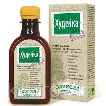 """Элексир """"Худейка"""" - масло льняное с экстрактом лабазника, зверобоя, свеклы, спорыша, облепихи, амаранта, вишнё"""