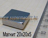 Неодимовый магнит 20x20x5mm 42 (сила притяжения 10 кг)