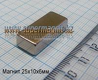 Неодимовый магнит 25x10x6mm 35М