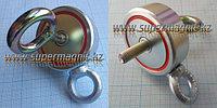 Поисковый неодимовый магнит ДВУХСТОННИЙ на 120кг. f12042 (сила притяжения 120кг.)