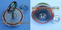 Поисковый неодимовый магнит ДВУХСТОННИЙ на 300кг. f30042 (сила притяжения 300кг.)