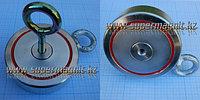 Поисковый неодимовый магнит ДВУХСТОННИЙ на 400кг. f40042 (сила притяжения 400кг.)