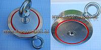 Поисковый неодимовый магнит ДВУХСТОННИЙ на 600кг. f60042 (сила притяжения 600кг.)