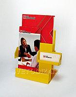 Подставка для буклетов двухярусная с визитницей. Модель: А10ПВ-002 (п)