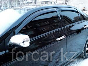 Дефлекторы окон SIM для COROLLA  Sedan 2000 - 2006, 2007 - 2012, 2013-, темные, на 4 двери