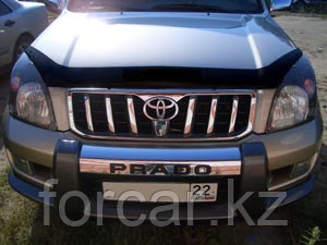 Дефлектор капота SIM для Land Cruiser Prado 120, темный, фото 2