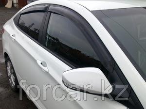 Дефлекторы окон SIM для Accent Solaris 2011-, седан/хэтчбек, темные, на 4 двери, фото 2
