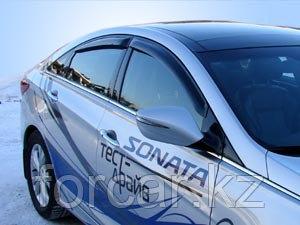 Дефлекторы окон SIM для SONATA 2010-, темные, на 4 двери