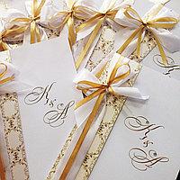 Пригласительные на свадьбу с лентами