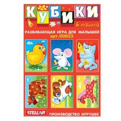 Stellar Кубики с картинками для малышей 6 шт