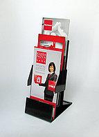 Подставка для буклетов трёхярусная с боковыми ограничителями . Модель: А13П-004 (ф)