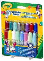 Crayola Жидкий клей с блестками; 16 цветов.
