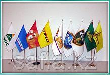 Изготовление флажков   с логотипом, и флагштоков