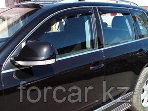 Дефлекторы окон SIM для Touareg, 2003-2007, 2007-2009, темные, на 4 двери, фото 2