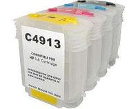Перезаправляемые картриджи DZK4-HP10/82 для HP DesignJet 500, 800