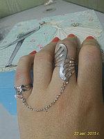 "Кольцо на два пальца ""Вьюга"", фото 1"