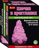 Научные игры: Сад пушистых кристаллов. Елочка в кристаллах (розовая)