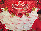 Press Wall с цветами на свадьбу, фото 8