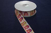Репсовая лента с рисунком (Девочки) 2,5 см.