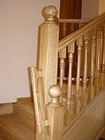 Лестница из дуба с вмонтированным шкафом, фото 4