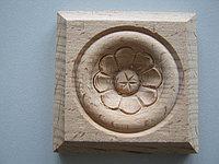 Розетка деревянная квадратная с цветком  (70*70) F - 5., фото 1