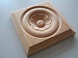 Розетка деревянная квадратная с цветком (60*60) F - 5 (c)., фото 2