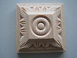 Розетка деревянная квадратная с лепестками (60*60) F - 4., фото 2
