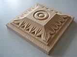 Розетка деревянная квадратная с лепестками  (50*50) F - 4 (a)., фото 2