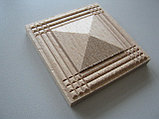 Розетка деревянная пирамида с окантовкой  (60*60) F - 1., фото 2