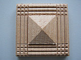 Розетка деревянная пирамида с окантовкой (50*50) F - 1(a)., фото 2
