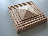 Розетка деревянная пирамида с окантовкой (50*50) F - 1(a)., фото 3