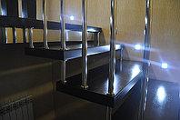 Лестница на больцах c деревянными ступенями, фото 1