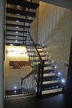 Лестница на больцах c деревянными ступенями, фото 3