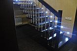 Лестница на больцах c деревянными ступенями, фото 4