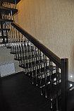 Лестница на больцах c деревянными ступенями, фото 5