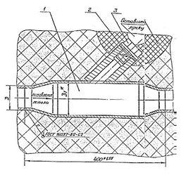 Закладные конструкции ЗК4-6-75 уст.2 115 мм скошенная, с резьбой М20х1,5 по ТУ 36-1097-85