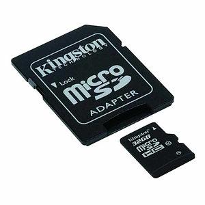 Карта памяти Kingston microSDHC 32GB Class 10 (no adapter) (SDC10/32GBSP)