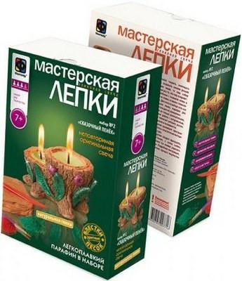 """Фантазёр 217022 Мастерская лепки """"Глиняная свеча"""" Сказочный пенек"""