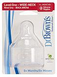Набор из 2-х сосок для недоношенных Dr. Brown's Natural Flow® к бутылочкам с широким горлышком, фото 2