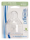 Набор из 2-х сосок Y образная для жидких каш  Dr. Brown's Natural Flow® к бутылочкам с широким горлышком, фото 3