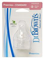 Набор из 2-х сосок для недоношенных детей Dr. Brown's Natural Flow® к стандартным бутылочкам