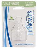 Набор из 2-х сосок  Y образная для жидких каш Dr. Brown's Natural Flow® к стандартным бутылочкам, фото 2